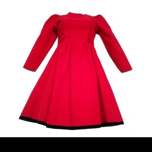 Jo lene vintage bright red girls dress. 12